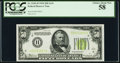 Small Size:Federal Reserve Notes, Fr. 2102-H $50 1934 Light Green Seal Federal Reserve Note. PCGS Choice About New 58.. ...