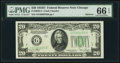 Small Size:Federal Reserve Notes, Fr. 2058-G $20 1934D Narrow Federal Reserve Note. PMG Gem Uncirculated 66 EPQ.. ...