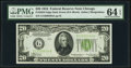Small Size:Federal Reserve Notes, Fr. 2054-G $20 1934 Dark Green Seal Federal Reserve Note. PMG Choice Uncirculated 64 EPQ.. ...