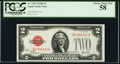 Fr. 1503 $2 1928B Legal Tender Note. PCGS Choice About New 58