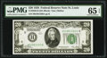 Fr. 2050-H $20 1928 Federal Reserve Note. PMG Gem Uncirculated 65 EPQ