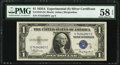 Fr. 1610 $1 1935A S Silver Certificate. PMG Choice About Unc 58 EPQ