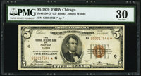 Fr. 1850-G* $5 1929 Federal Reserve Bank Star Note. PMG Very Fine 30