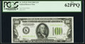 Small Size:Federal Reserve Notes, Fr. 2152-K $100 1934 Light Green Seal Federal Reserve Note. PCGS New 62PPQ.. ...