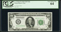 Fr. 2154-H $100 1934B Federal Reserve Note. PCGS Very Choice New 64