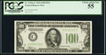 Small Size:Federal Reserve Notes, Fr. 2152-C $100 1934 Dark Green Seal Federal Reserve Note. PCGS Choice About New 55.. ...