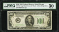 Small Size:Federal Reserve Notes, Fr. 2152-G* $100 1934 Dark Green Seal Federal Reserve Star Note. PMG Very Fine 30.. ...