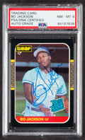 Autographs:Sports Cards, Signed 1987 Donruss/Leaf Rated Rookies Bo Jackson #35 PSA/DNA NM-MT 8....