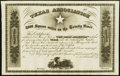 (Austin), TX/Louisville, KY- Texas Association (Mercer Colony) 8,000 Square Miles on the Trinity River 18__ (circa 1858)...