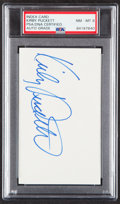 Autographs:Index Cards, Signed Index Card - Kirby Puckett PSA/DNA NM-MT 8. ...