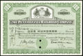 Miscellaneous:Other, Baltimore and Ohio Railroad Company 100 Shares 1926 Fine, 2 POCs, roulette cancelled, rubber stamped cancelled, pinholes;. ... (Total: 2 items)