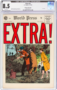 Extra! #5 Gaines File Copy 11/12 (EC, 1955) CGC VF+ 8.5 White pages