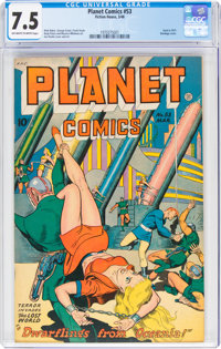 Planet Comics #53 (Fiction House, 1948) CGC VF- 7.5 Off-white to white pages