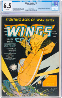 Wings Comics #16 (Fiction House, 1941) CGC FN+ 6.5 White pages