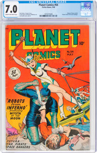 Planet Comics #54 (Fiction House, 1948) CGC FN/VF 7.0 Cream to off-white pages