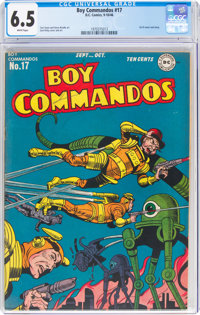 Boy Commandos #17 (DC, 1946) CGC FN+ 6.5 White pages
