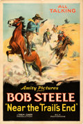 "Movie Posters:Western, Near the Trail's End (Amity Pictures, R-1937). Fine/Very Fine on Linen. One Sheet (27.5"" X 41"").. ..."