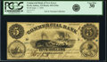 Perth Amboy, NJ- Commercial Bank of New Jersey $5 Sep. 1, 1856 G44a PCGS Very Fine 30