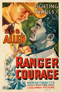 Movie Posters:Western, Ranger Courage (Columbia, 1937). Folded, Fine/Very Fine.