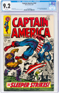 Silver Age (1956-1969):Superhero, Captain America #102 (Marvel, 1968) CGC NM- 9.2 White pages....