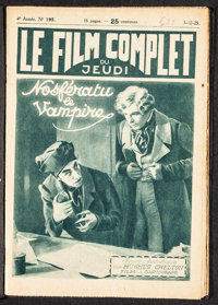 """Le Film Complet: Nosferatu (Le Film Complet, 1925). Fine/Very Fine. French Magazines (2) (16 Pages, 7.25"""" X 10.5&qu..."""