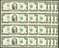 Small Size:Federal Reserve Notes, Fr. 1939-B $2 2009 Federal Reserve Notes. Uncut Sheet of Four. Six Examples. Choice Crisp Uncirculated or Better.. ... (Total: 6 sheets)