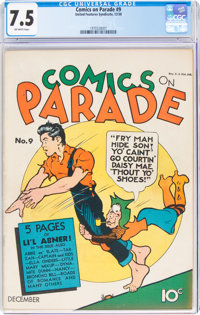 Comics On Parade #9 (United Feature Syndicate, 1938) CGC VF- 7.5 Off-white pages
