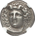 Ancients:Greek, Ancients: THESSALY. Larissa. Ca. 4th century BC. AR drachm (18mm, 6.06 gm, 4h). NGC XF 5/5 - 4/5, Fine Style....