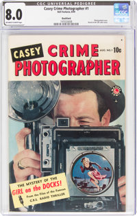 Casey-Crime Photographer #1 Rockford Pedigree (Marvel, 1949) CGC VF 8.0 Off-white to white pages