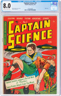 Golden Age (1938-1955):Science Fiction, Captain Science #2 (Youthful Magazines, 1951) CGC VF 8.0 Off-white to white pages....