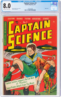 Captain Science #2 (Youthful Magazines, 1951) CGC VF 8.0 Off-white to white pages