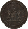 India:British India, India: British India. Madras Presidency Proof 1/48 Rupee 1794 PR64 Brown NGC,...