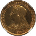Great Britain, Great Britain: Victoria gold Proof 1/2 Sovereign 1893 PR62 Cameo NGC,...