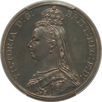 Great Britain: Victoria Proof Crown 1887 PR60 PCGS