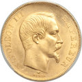 France: Napoleon III gold 50 Francs 1857-A MS64 PCGS