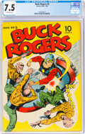Golden Age (1938-1955):Science Fiction, Buck Rogers #5 (Eastern Color, 1943) CGC VF- 7.5 Off-white pages....