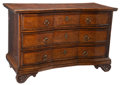 Furniture, An Italian Marquetry-Inlaid Serpentine Commode, 18th century . 35-5/8 x 56 x 24-3/4 inches (90.5 x 142.2 x 62.9 cm). ...