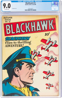Blackhawk #12 (Quality, 1946) CGC VF/NM 9.0 Off-white pages