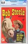 Golden Age (1938-1955):Western, Bob Steele Western #1 (Fawcett Publications, 1950) CGC VF 8.0 Off-white pages....