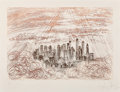 Prints & Multiples, Salvador Dalí (1904-1989). Manhattan, from New York City, 1964. Engraving in colors on paper. 22 x 30 inches (55.9 x...