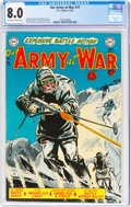 Golden Age (1938-1955):War, Our Army at War #17 (DC, 1953) CGC VF 8.0 Off-white to white pages....