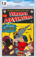 Golden Age (1938-1955):Science Fiction, Strange Adventures #7 (DC, 1951) CGC FN/VF 7.0 Off-white to white pages....
