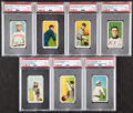 Baseball Cards:Lots, 1909-11 T206 Piedmont and Sweet Caporal PSA Graded Collection (7)....