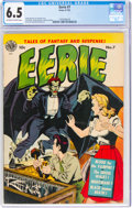 Golden Age (1938-1955):Horror, Eerie #7 (Avon, 1952) CGC FN+ 6.5 Off-white to white pages....