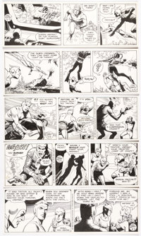 Dan Barry Flash Gordon Daily Comic Strips Original Art Group of 9 Consecutive (King Features Syndicate, 1988) ... (Total...