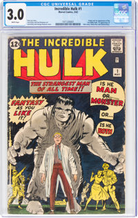 The Incredible Hulk #1 (Marvel, 1962) CGC GD/VG 3.0 White pages