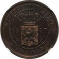 Netherlands East Indies, Netherlands East Indies: Dutch Colony. Willem III Proof 2-1/2 Cents 1857 PR62 Brown NGC,...