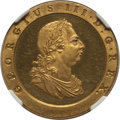 Great Britain: George III gilt-copper Proof Pattern 1/2 Penny 1797-SOHO PR62 Ultra Cameo NGC