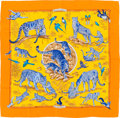 "Luxury Accessories:Accessories, Hermès 90cm Gold ""Tendresse Feline"" Silk Scarf. Condition: 1. 35"" Width x 35"" Height. ..."