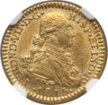 Colombia: Ferdinand VII gold Escudo 1815 NR-JF MS61 NGC